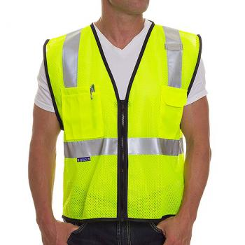 Made In Usa Hi Viz Brand 174 6 Pocket Class 2 Vest Zipper