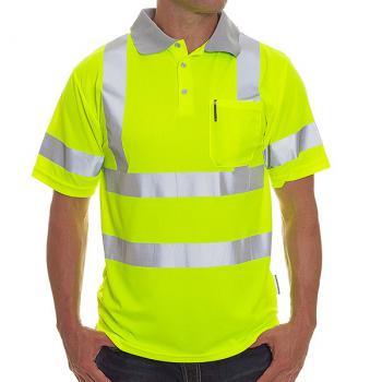 Hi viz brand grey series class 3 dri fit polo shirts for Hi vis polo shirts with pocket
