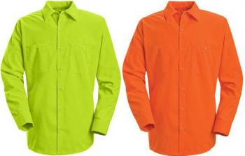 Red Kap 174 Enhanced Visibility Long Sleeve Button Down Work